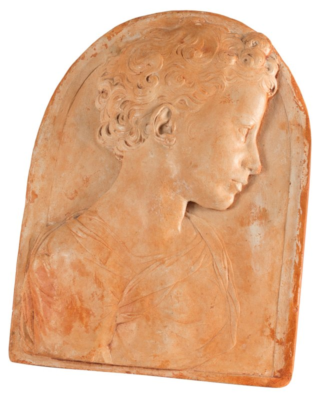 Cast Stone Relief, Woman