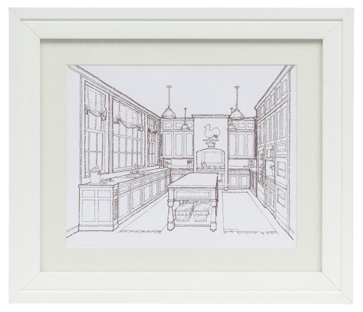 Kitchen Rendering, Signed