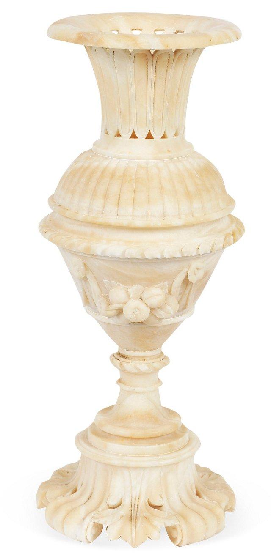 19th-C. Alabaster Vase