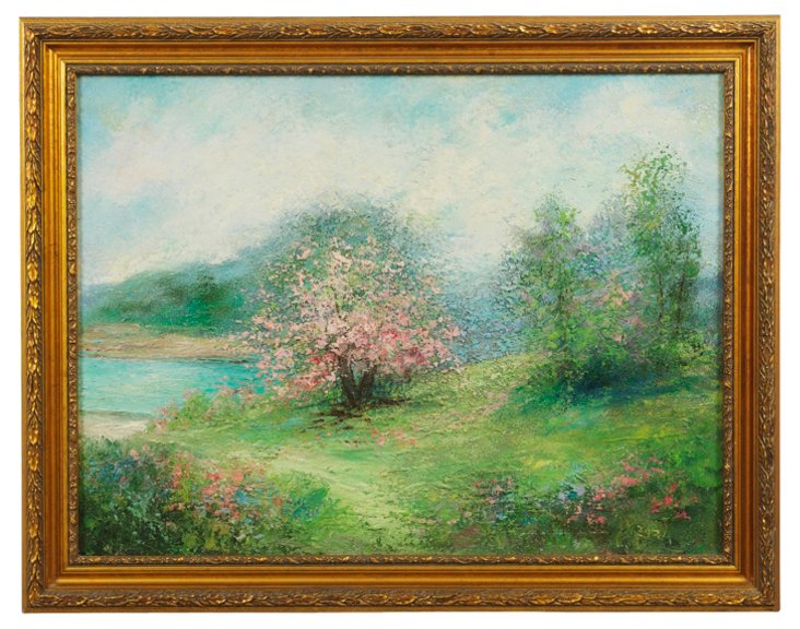 Oil Painting, Spring Meadow