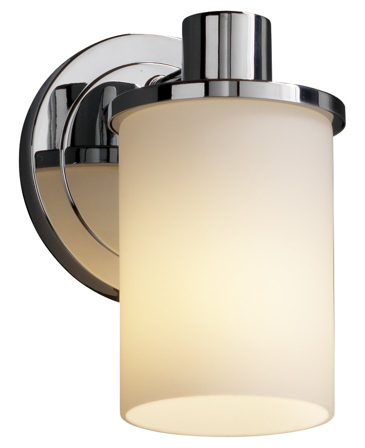 Lucy 1-Light Wall Sconce, Chrome
