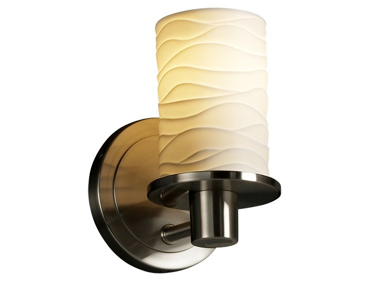Lucy 1-Light Wall Sconce, Nickel