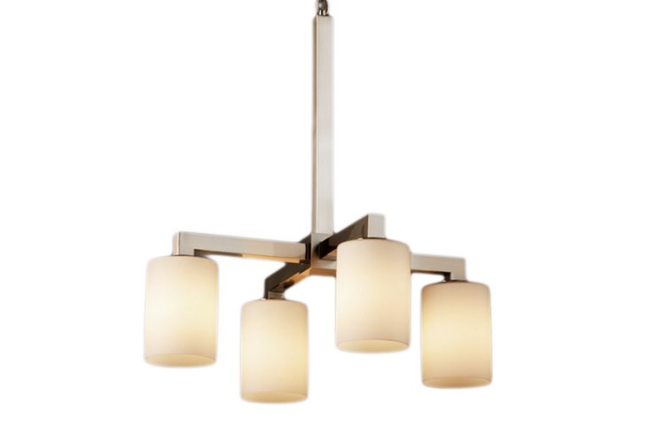 Avignon 4-Light Chandelier, Nickel