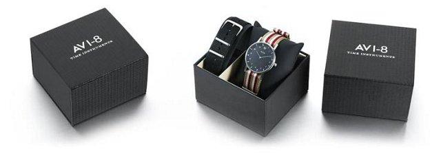 AVI-8 Flyboy Watch, Black/Beige