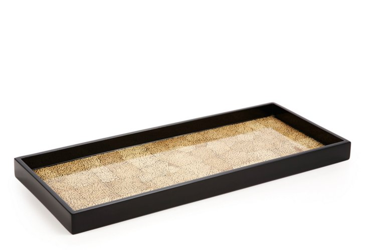 Long Desert Lacquer Tray, Sand