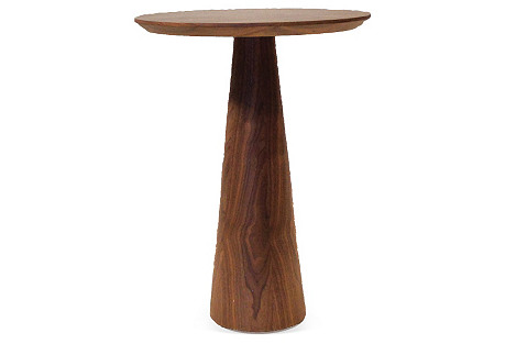 Walnut Tower Side Table, Medium