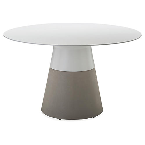 Maldives Dining Table, White/Gray