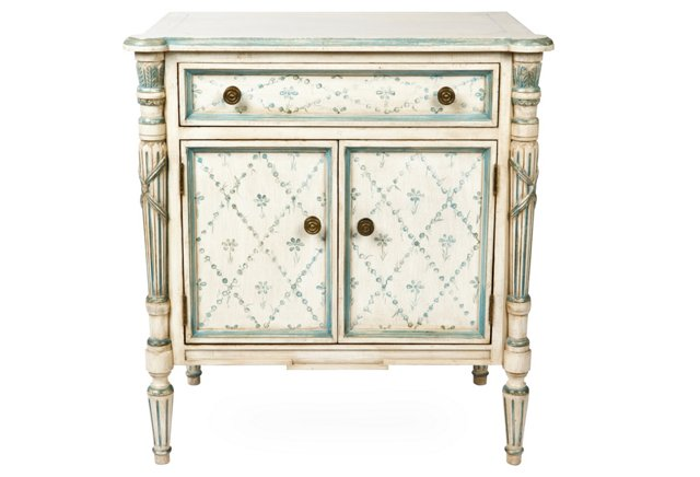 Normandy Commode, Antique White