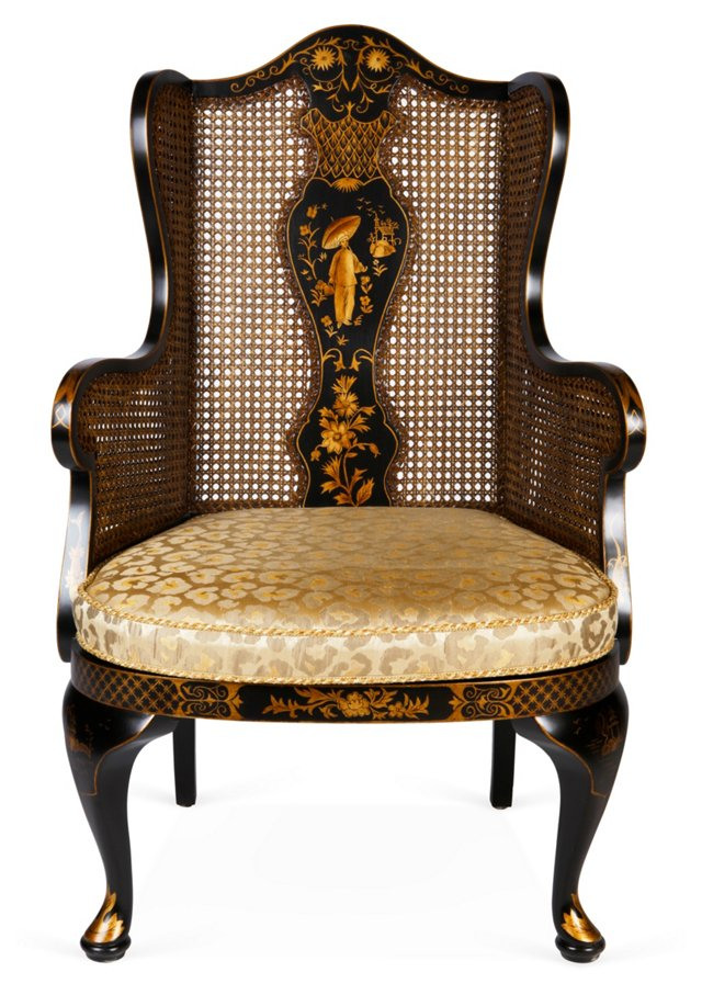 Queen Anne Wing Chair
