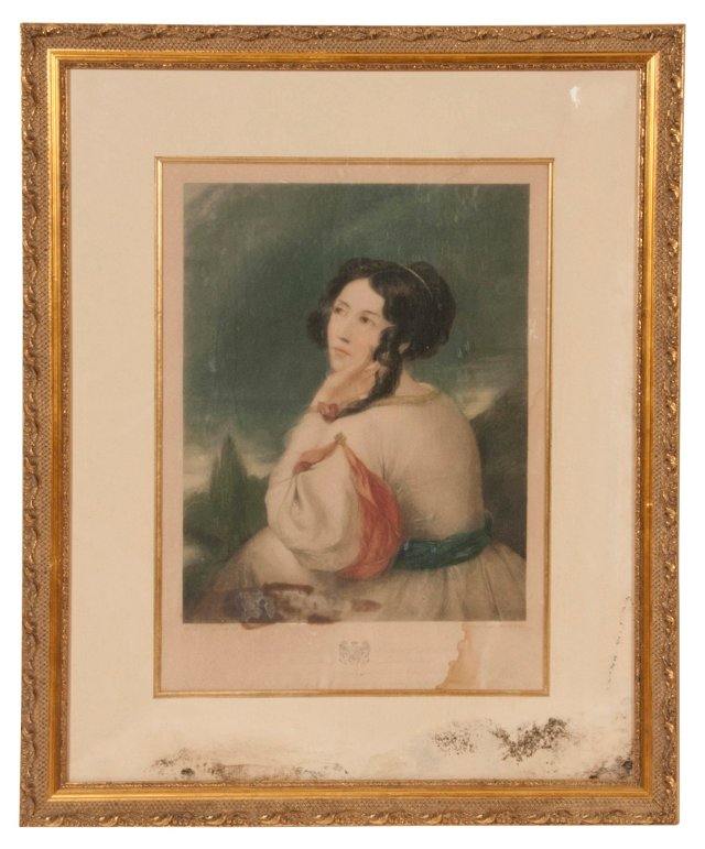 Antique Painting, Lady