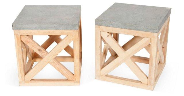 Bluestone Side Tables