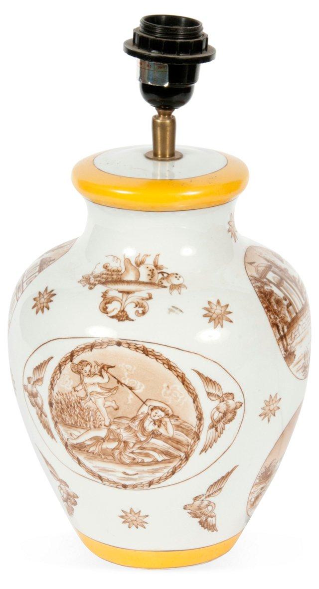 Painted Ceramic Lamp