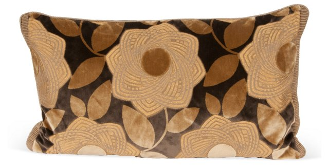 Floral Accent Pillow I