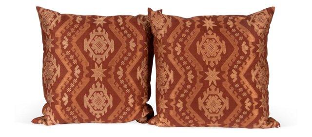 Tourmaline Azteca Pillows, Pair