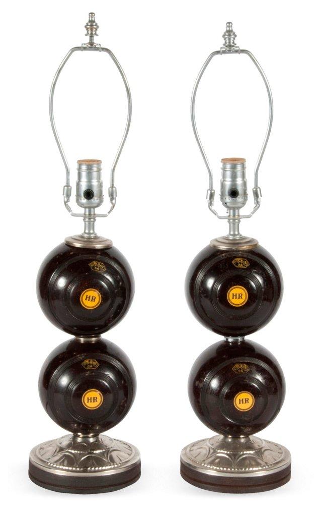 Antique Lamps, Pair