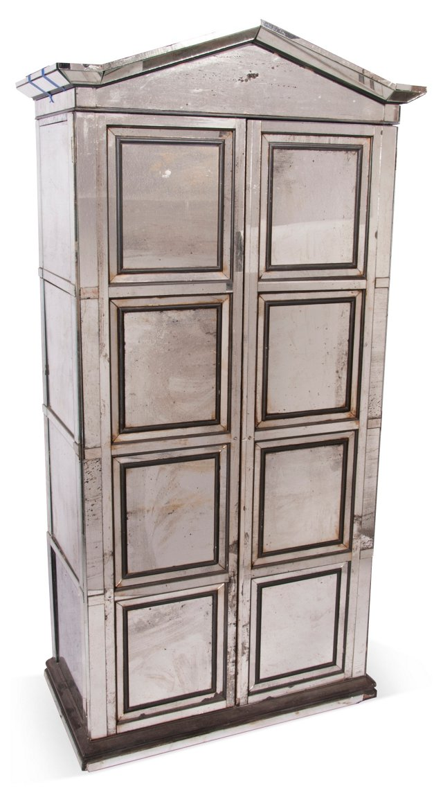 Antique Mirrored Cabinet