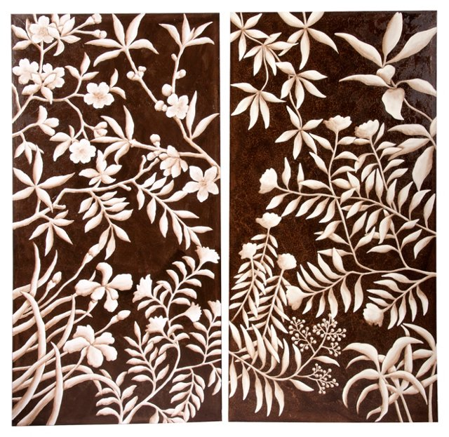 Flora Weitzel Paintings, Set of 2