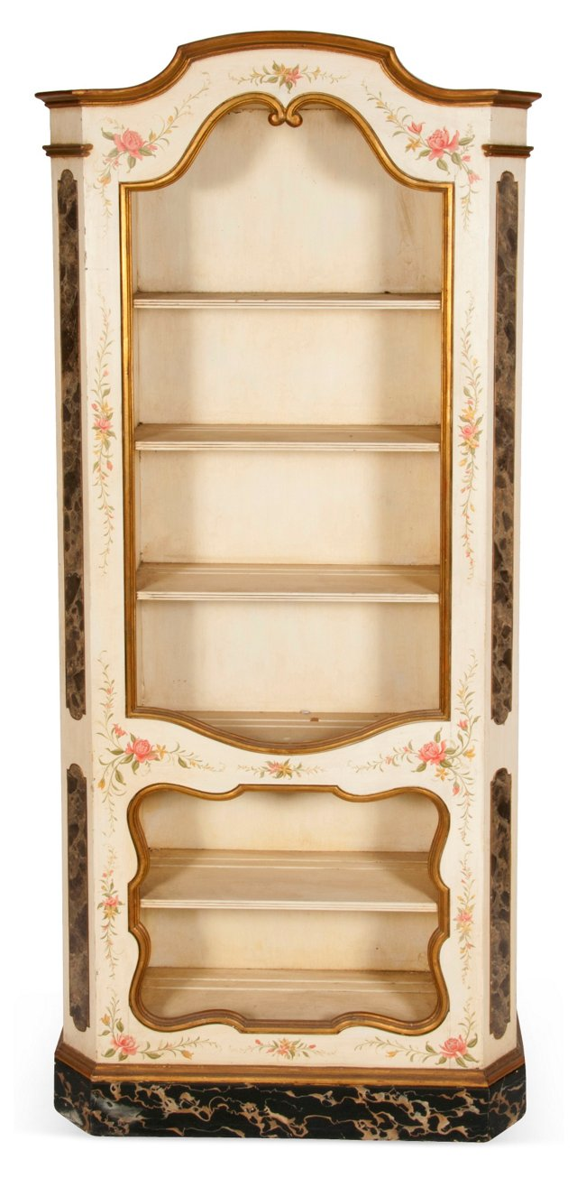 Decorated French Display Cabinet