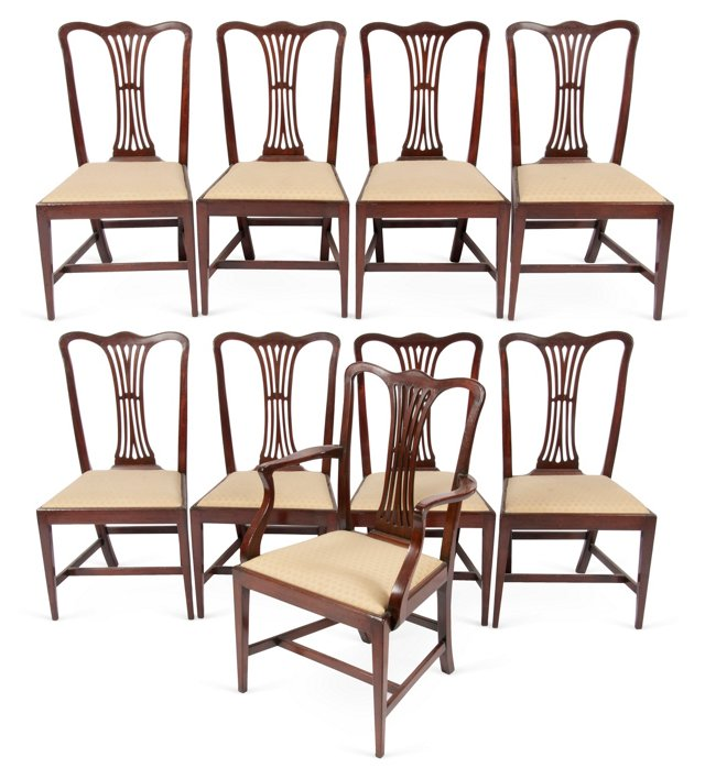 George III Hepplewhite Chairs, S/9