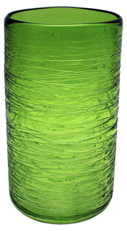 """9"""" Honaw Cylinder Vase, Green"""