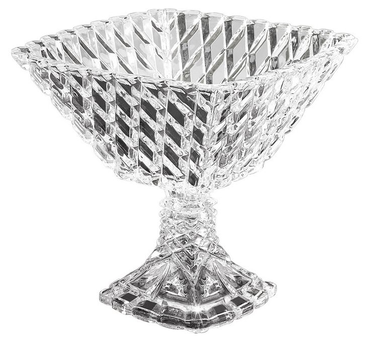 Muirfield Pedestal Square Compote Bowl