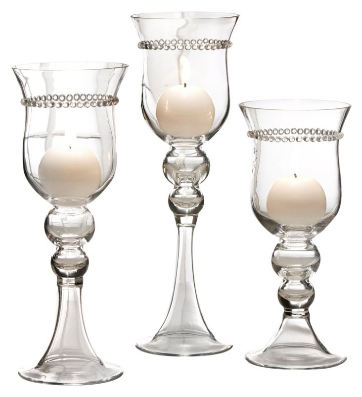 Asst. of 3 Elizabeth Candle Holders