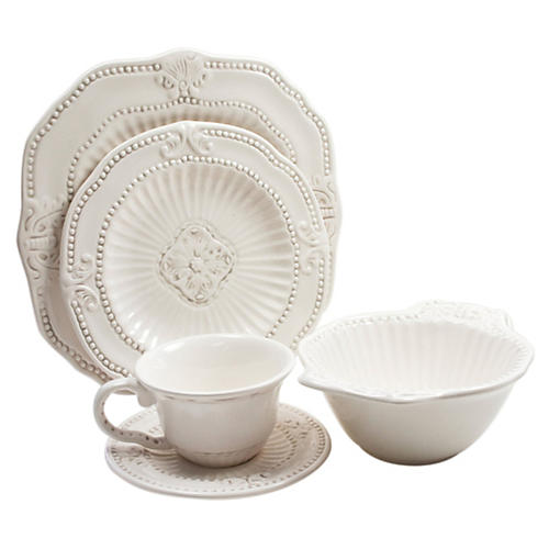 20-Pc Baroque Dinnerware Set