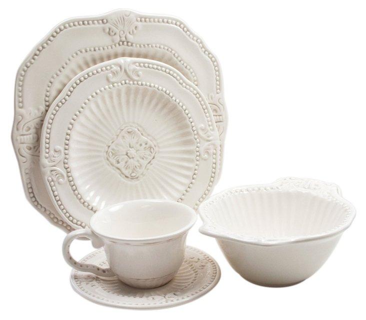 20-Pc Baroque Dinnerware Set