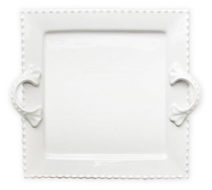 Bianca Bead Square Platter