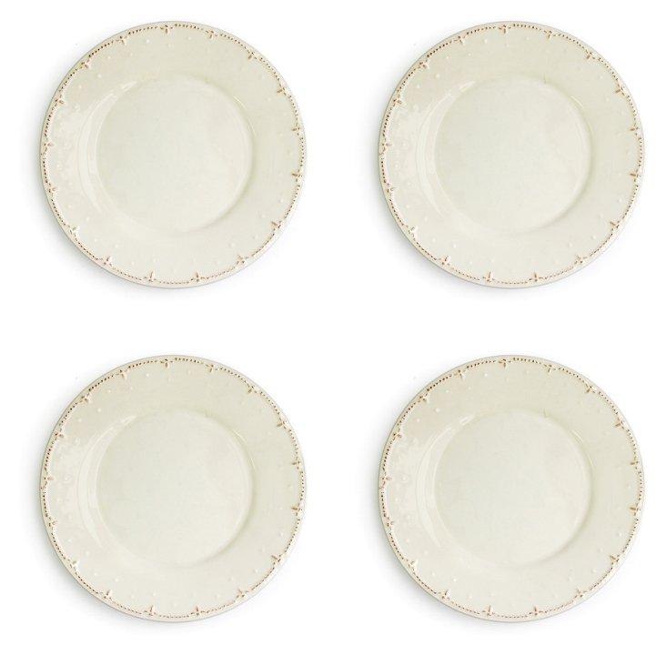 S/4 Genevieve Dinner Plates