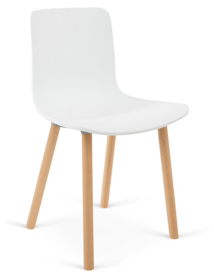 Harper Chair, White/Natural