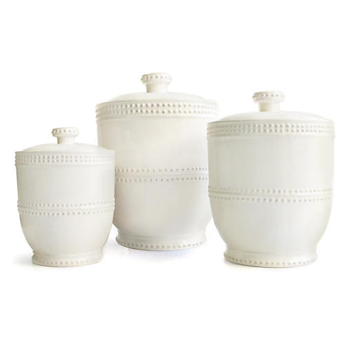 S/3 Assorted Bianca Bead Canisters