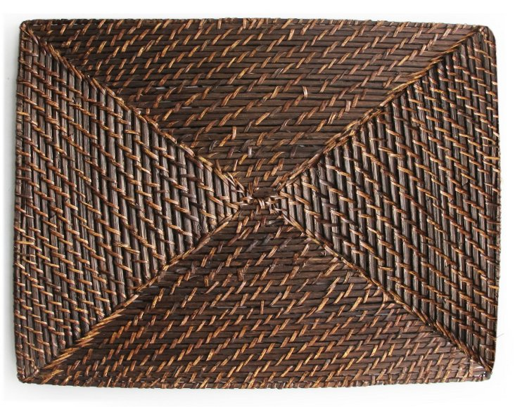 S/4 Bamboo Square Place Mats
