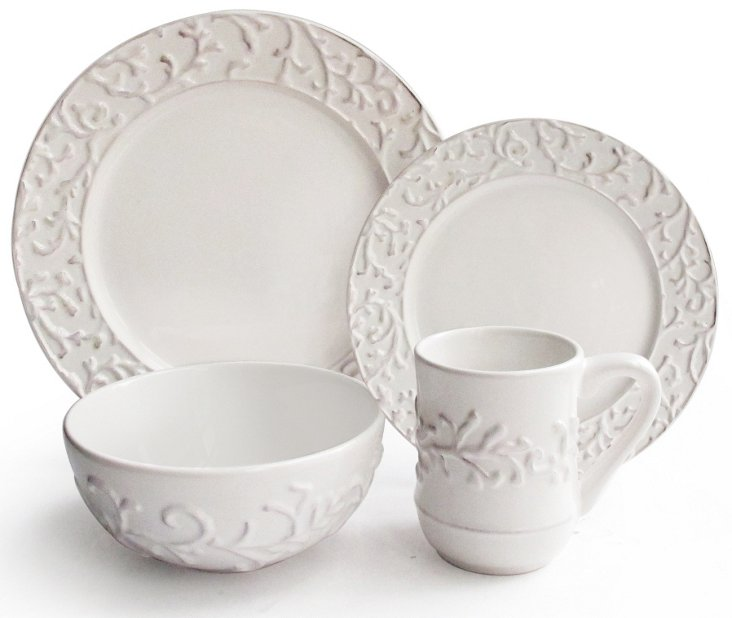 16-Pc Vine Dinnerware Set