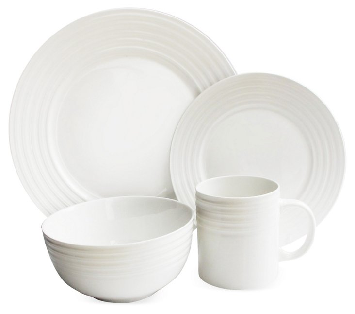 16-Pc Waverly Concentric Dinnerware Set