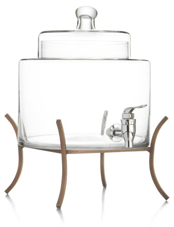 Glass Dispenser w/ Metal Stand