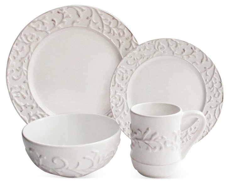 16-Pc Waverly Savoy Dinnerware Set