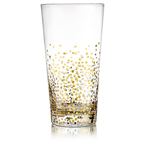 S/4 Gold Luster Highball Glasses