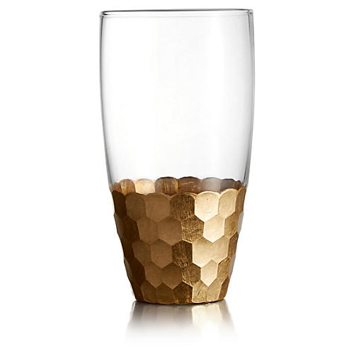S/4 Daphne Gold Highball Tumblers