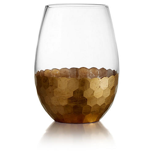 S/4 Daphne Gold Stemless Glasses