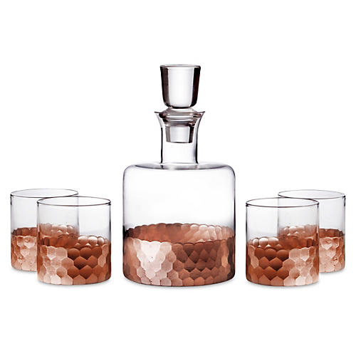 5-Pc Daphne Decanter Set, Copper