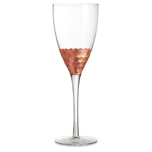 S/4 Daphne Wineglasses, Copper