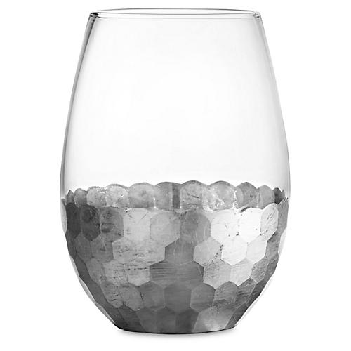 S/4 Daphne Stemless Wineglasses, Silver