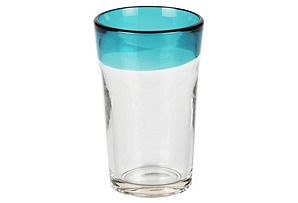 S/4 CJ Blue-Rimmed Highball Glasses*