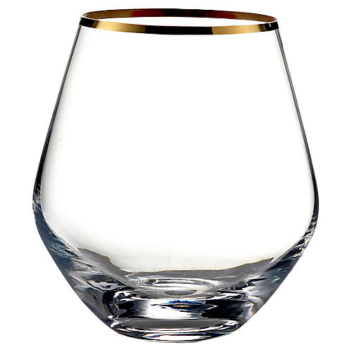 Geri Stemless Wineglass, Gold