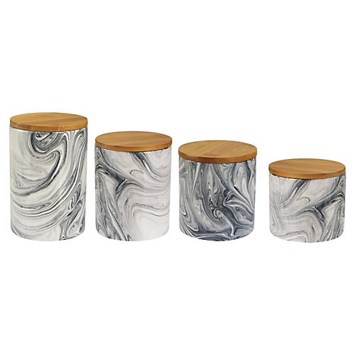 S/4 Warren Canisters, Gray