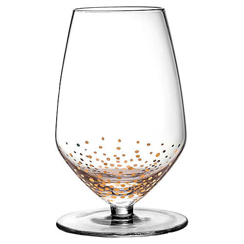 S/4 Luster Sauvignon Wineglasses, Gold