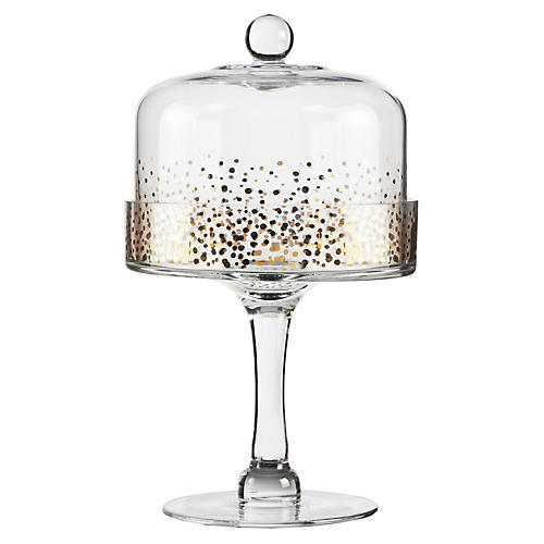 Luster Dome Cake Stand, Gold