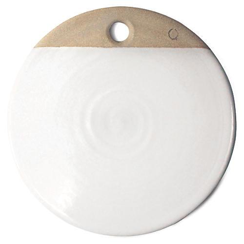 Wheel-Thrown Cheese Board, Natural/White