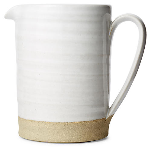Silo Pitcher, Natural/White